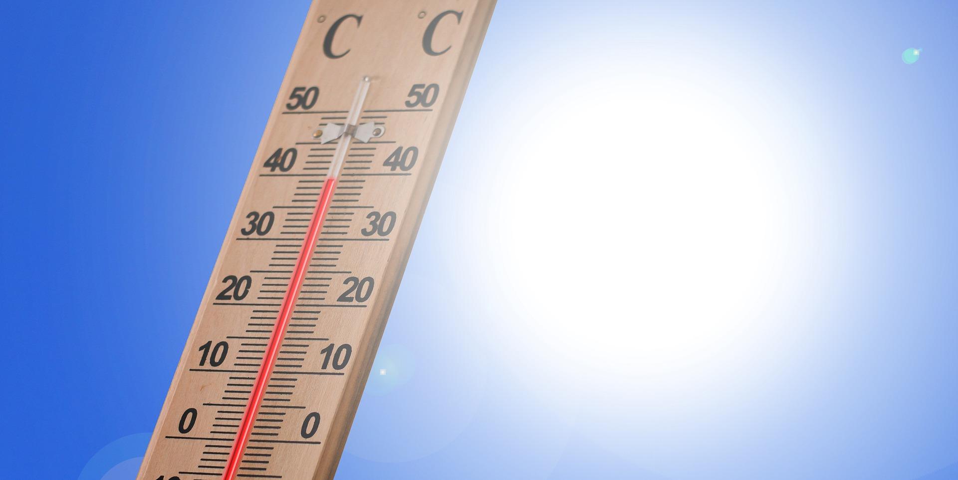 気温高い温度計